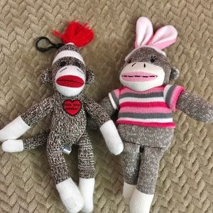 🐵Sock monkey pair